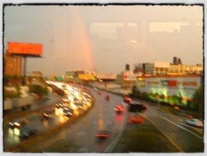 Rainbow over Gratitude