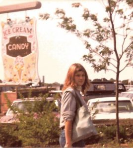 me circa early 80s with long hair (grown out bob) in Martha's Vineyard