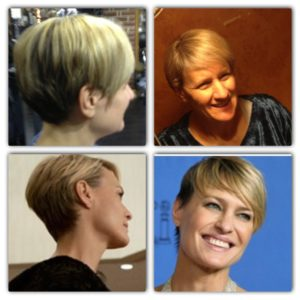 """my new hair cut, and the inspirational Robin Wright and her """"House of Cards"""" style."""
