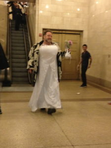 making a grand entrance in Grand Central