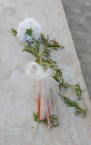 The bride's bouquet from the horse-themed playa wedding