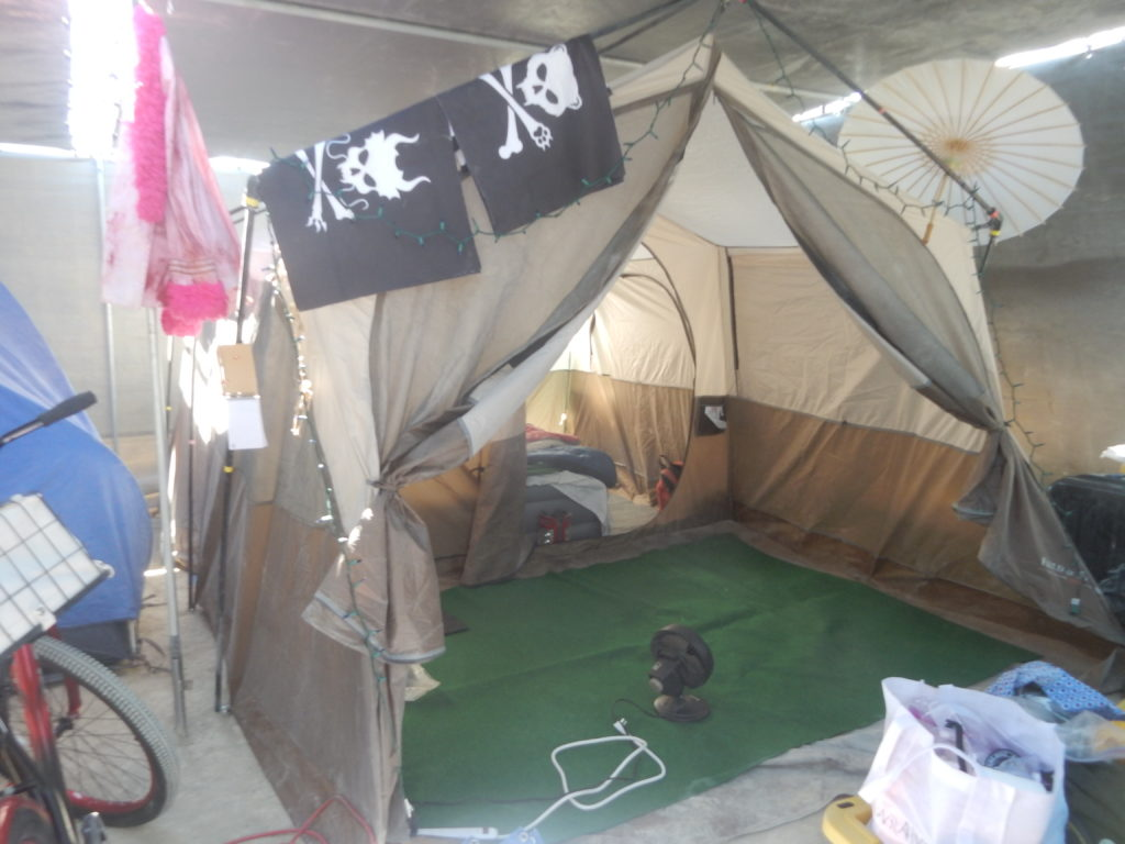 our tent at Burning Man