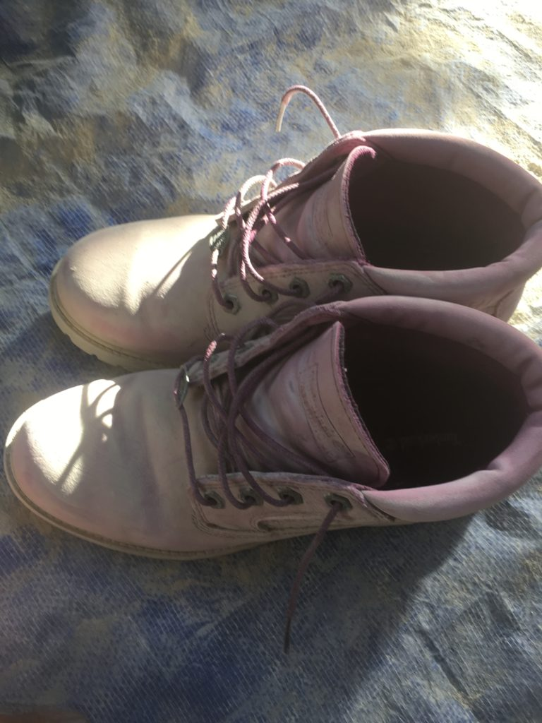 My purple Tim's after a week or so in the desert dust. They clean up fine!