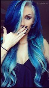 Pinterest board on blue hair
