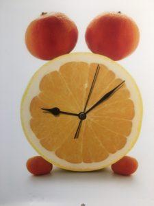 Pret a Manger orange clock photo