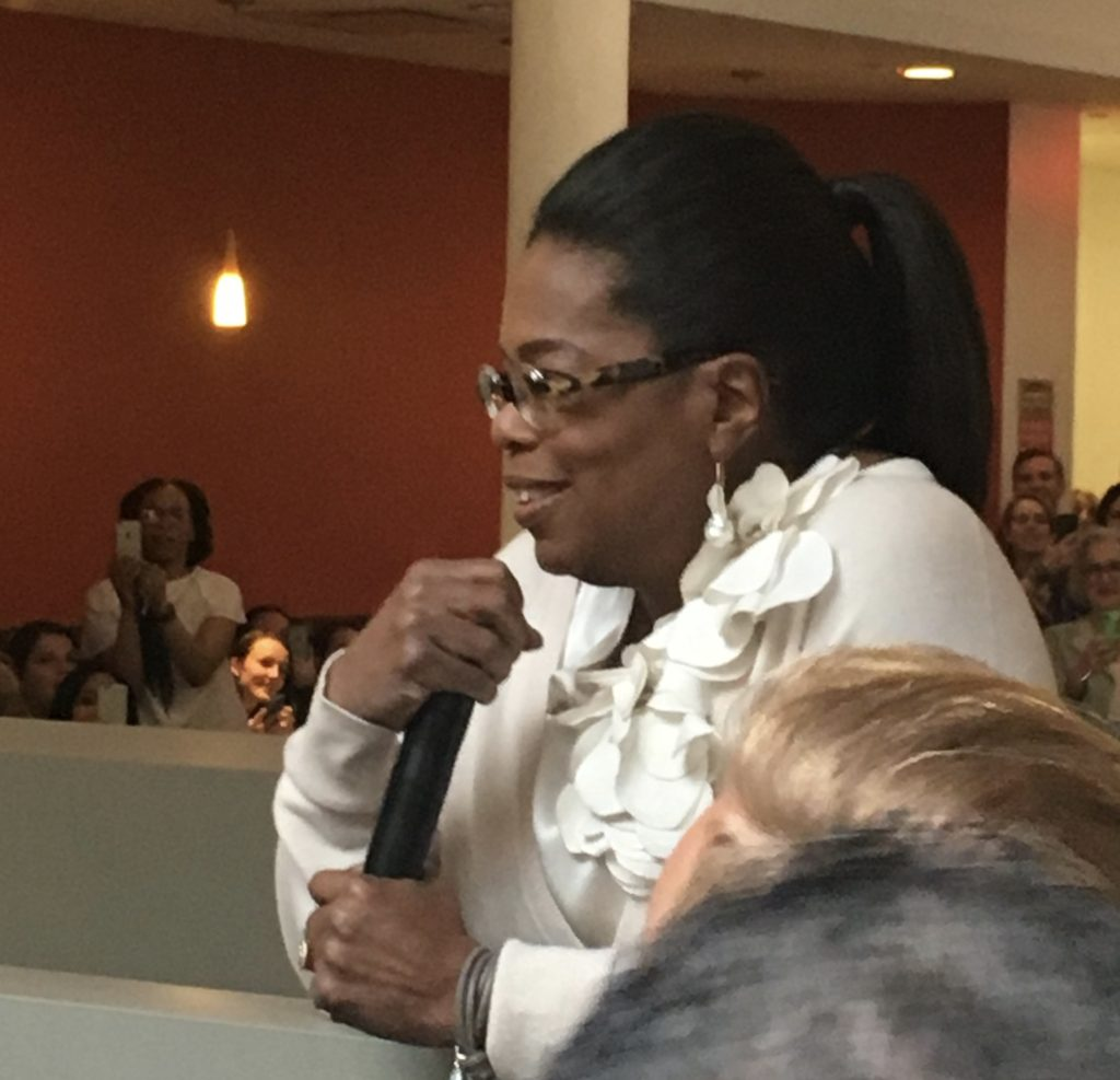 Oprah at Weight Watchers HQ who has a great definition of adventure