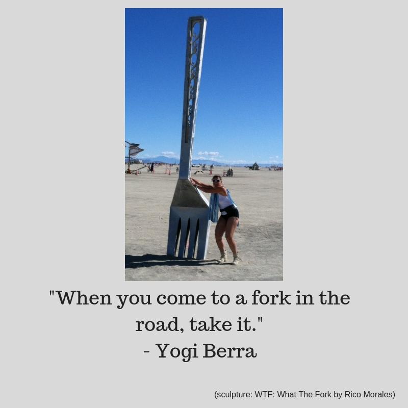 Adventure Mindset fun quote by Yogi Berra