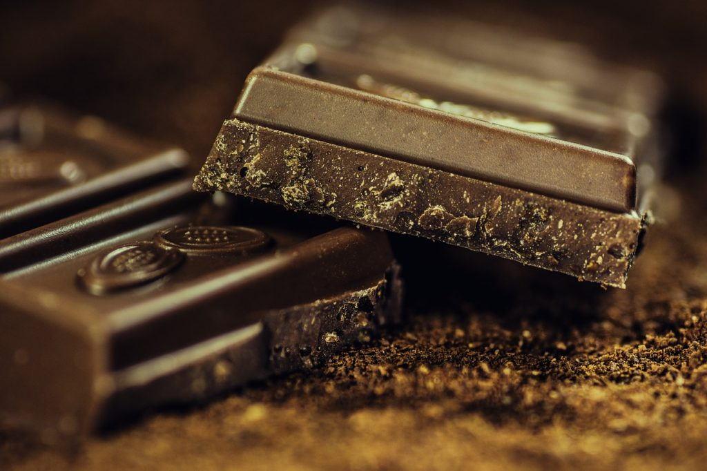 close up of chocolate bars