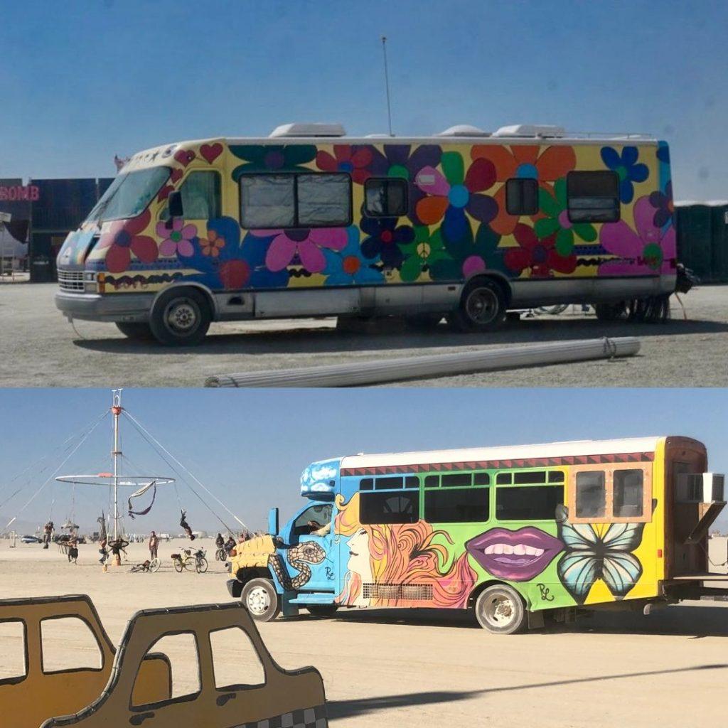 Burning Man RVs
