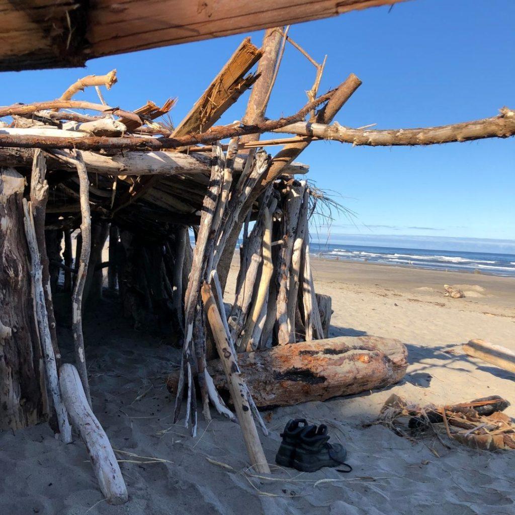 driftwood hut Neskowin Beach, OR