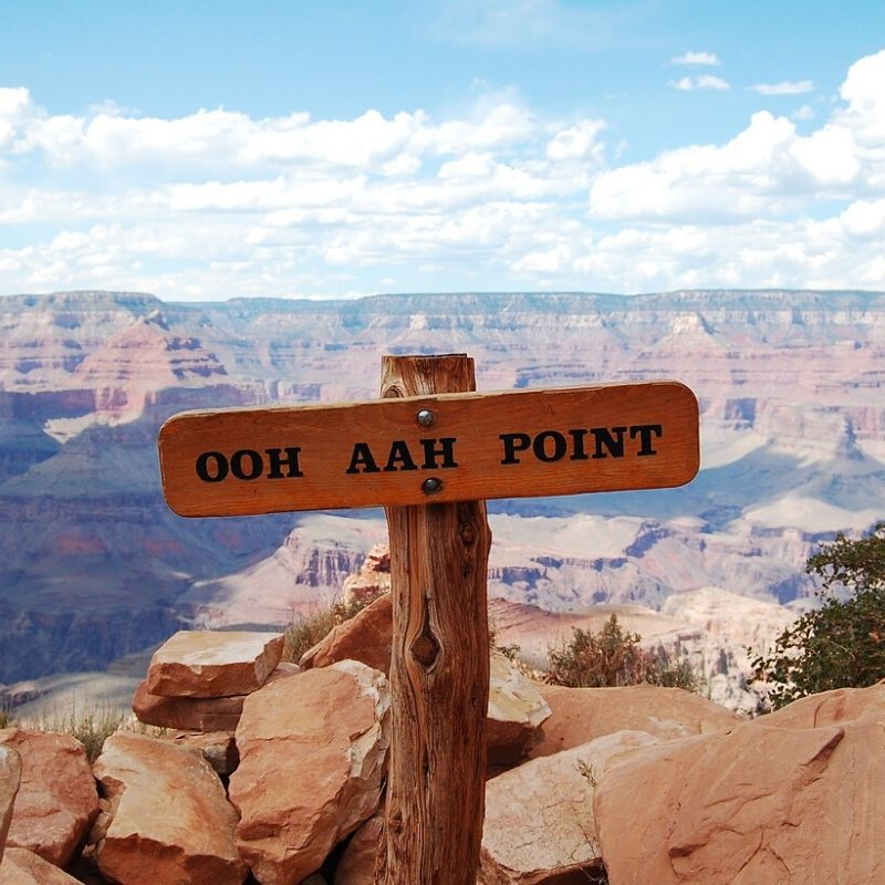 Ooh Aah Point looking over Grand Canyon - 8 on my Bucket List