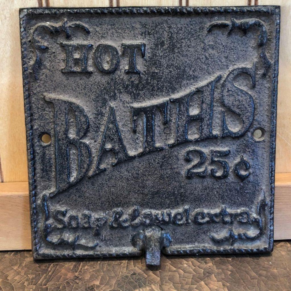 "iron tile ""Hot Baths 25 cents"""