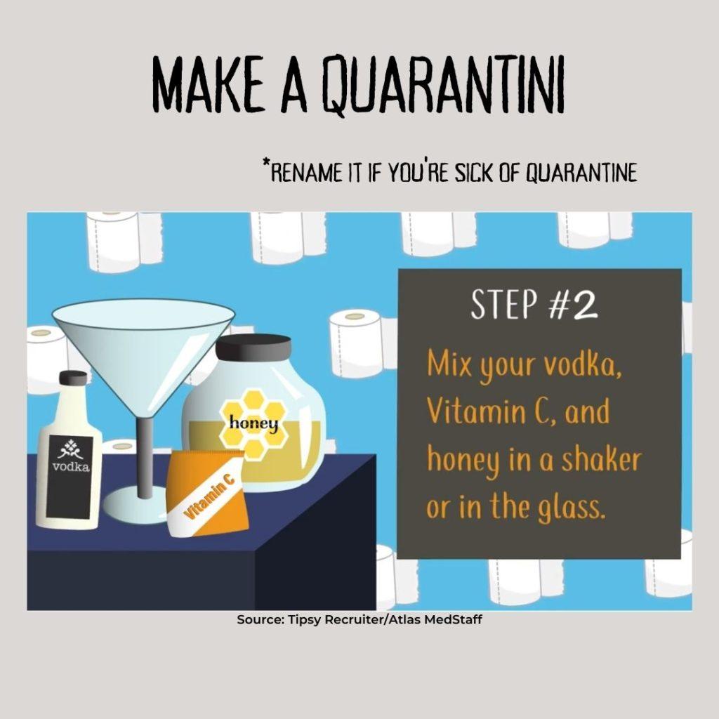 Quarantini recipe and illustration