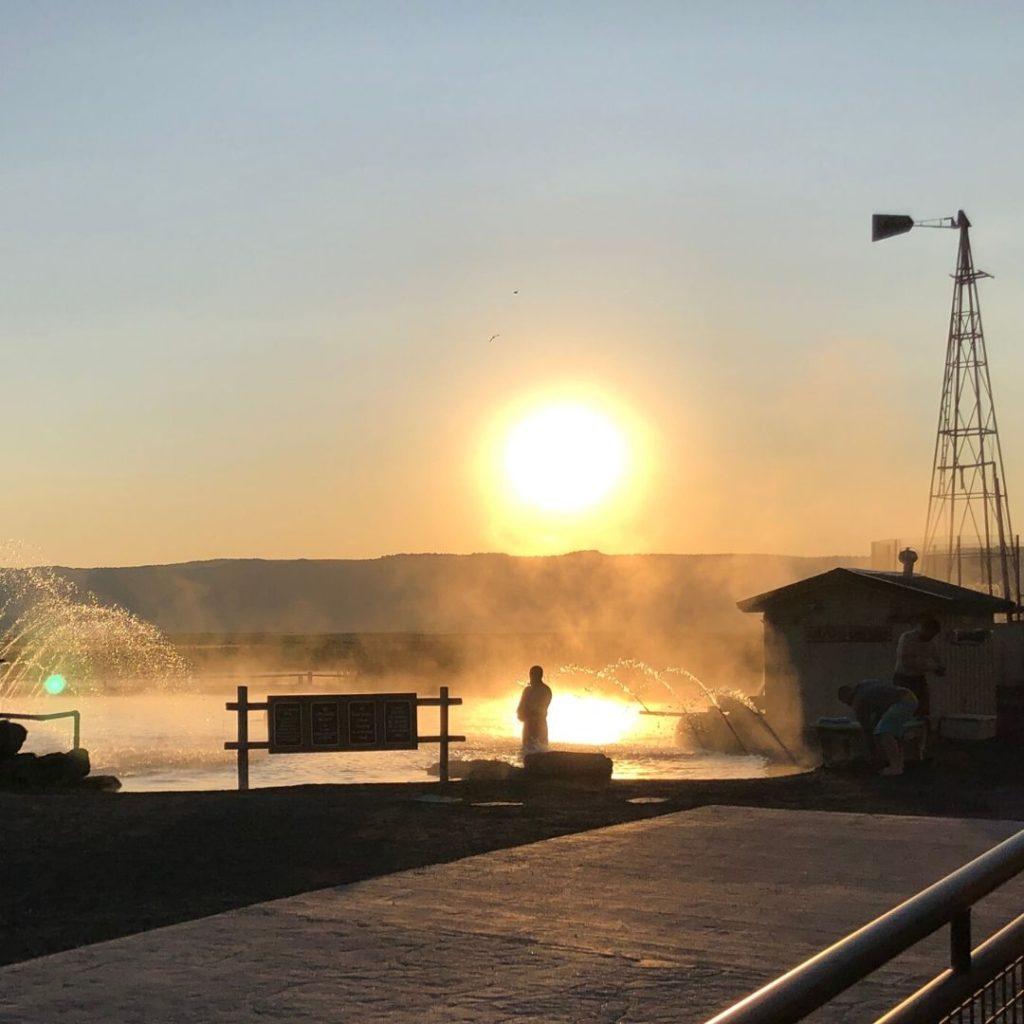 Crystal Crane Oregon hot spring at sunrise