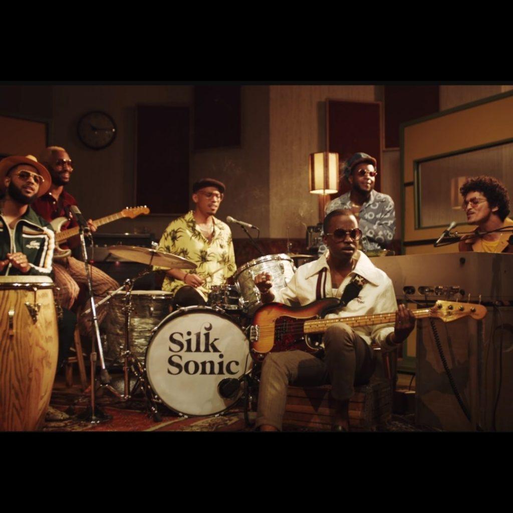 Bruno Mars and Silk Sonic video shot