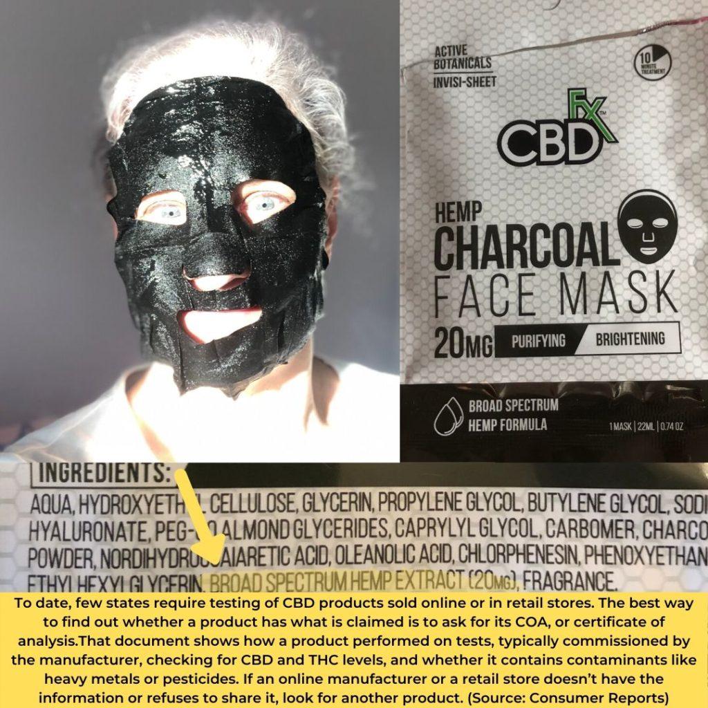 CBD face mask & ingredients