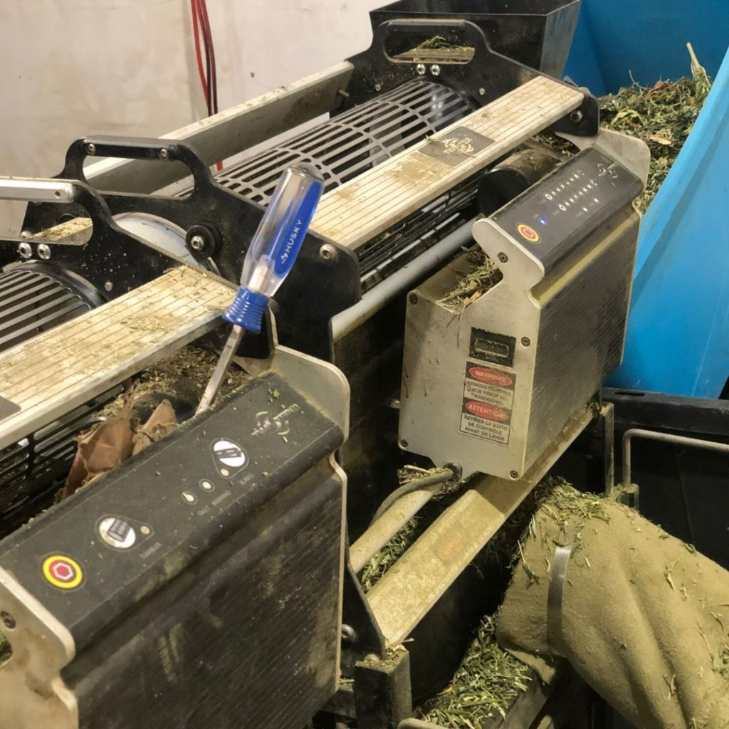 One of the machines used to separate the buds out