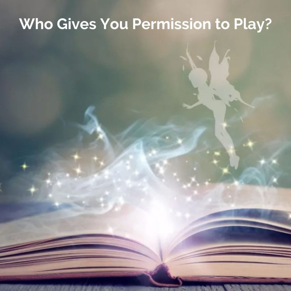 Playgrounding podcast's episode 52 with an image showing a fairy over a book