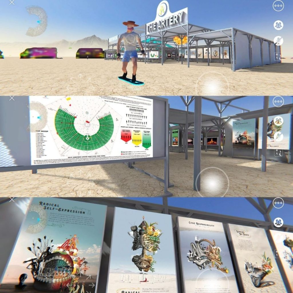 The Artery at Burning Man in VR