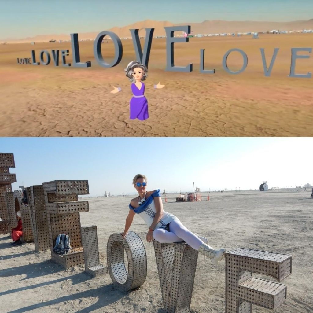 Burning Man VR LOVE