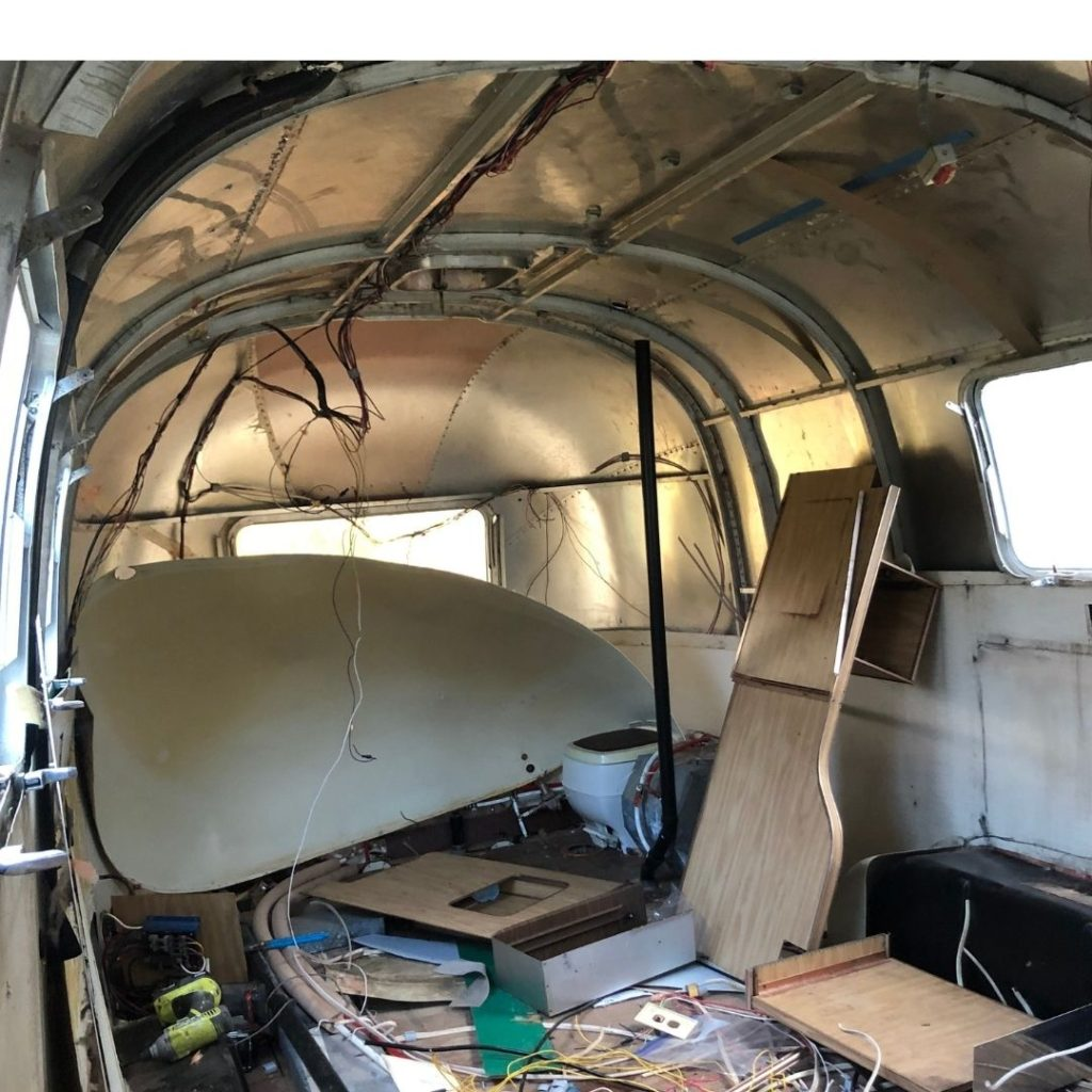 inside the airstream renovation