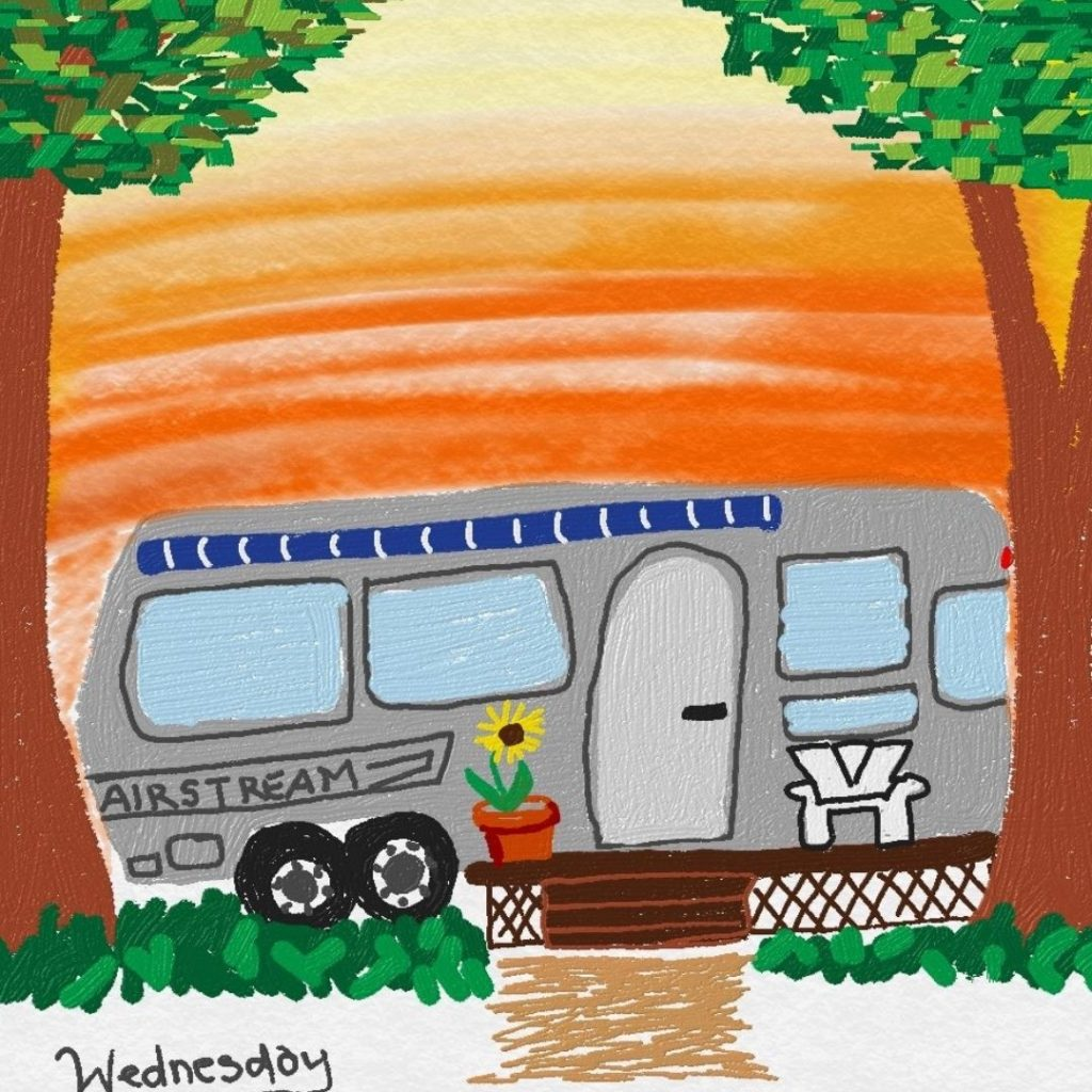 illustration of Wednesday by Lisa Stimpson