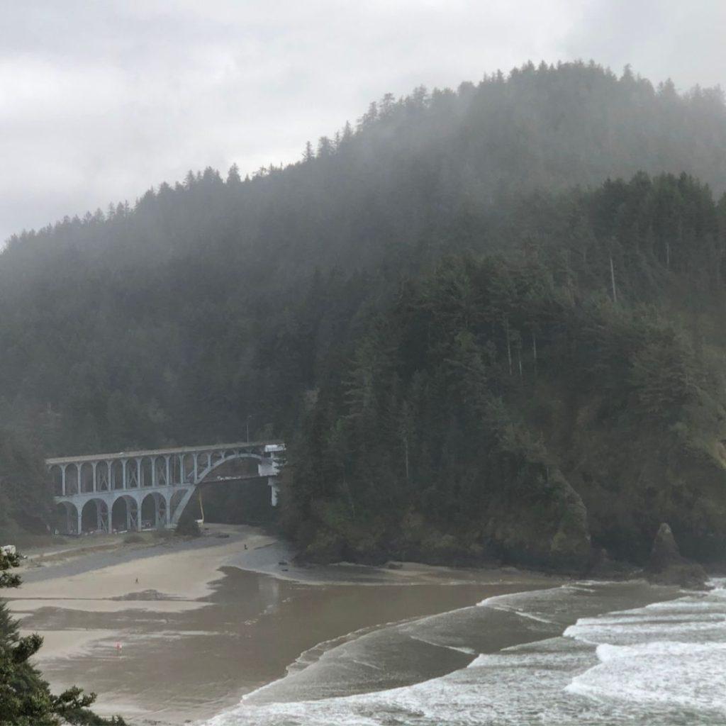 bridge by Heceta Lighthouse