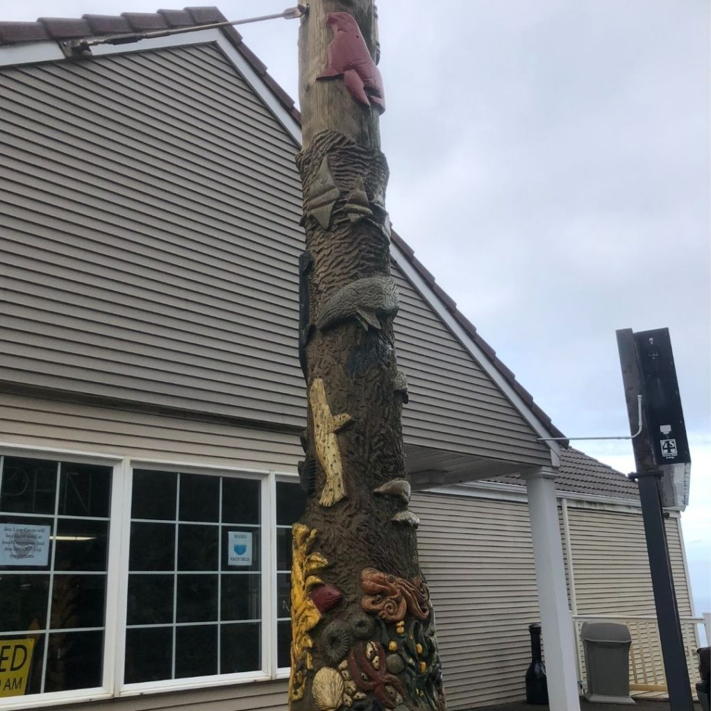 Totem pole by Seal Caves store