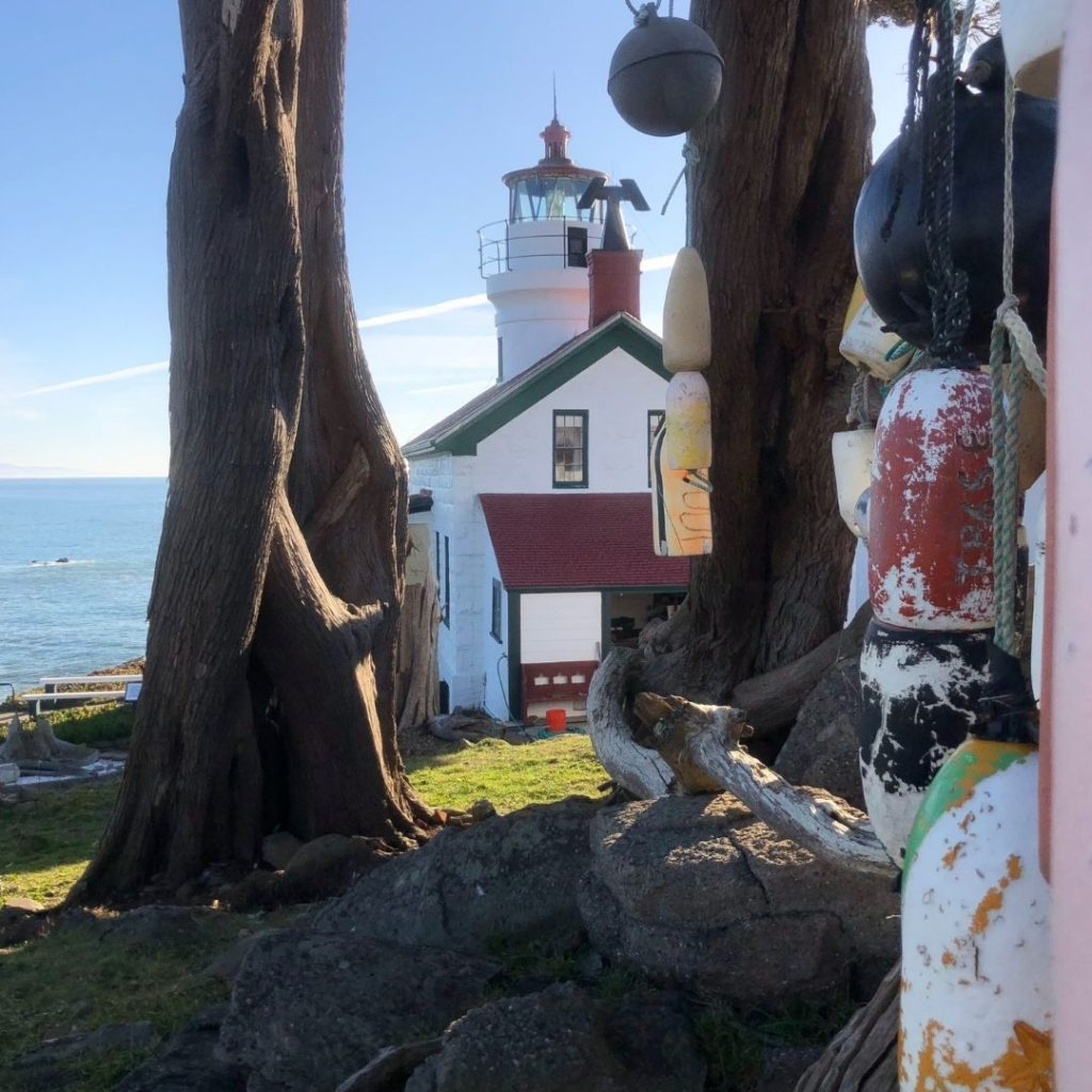 Battery Point Lighthouse and buoys