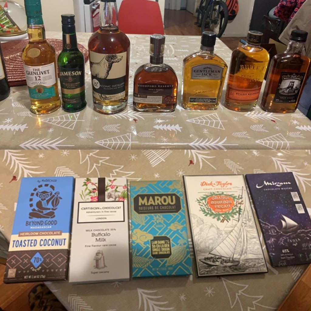 Whiskey and chocolate for pairing