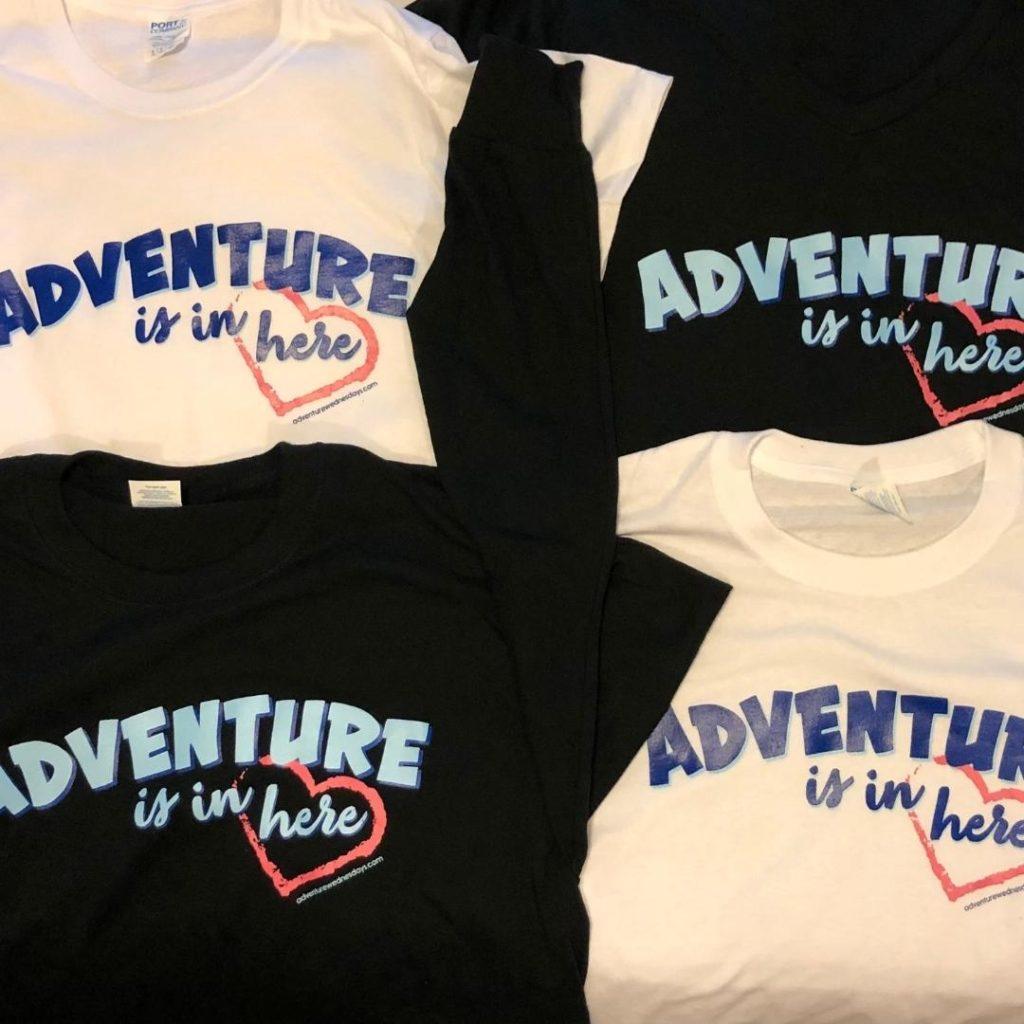 tee shirts for Adventurers