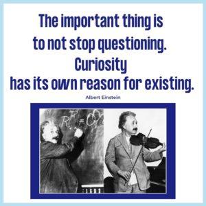 Albert Einstein quote on curiosity